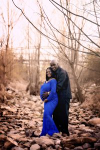 Memphis Maternity Photographer maternity photographer sunset session blue lace maternity gown white lace maternity dress pregnancy